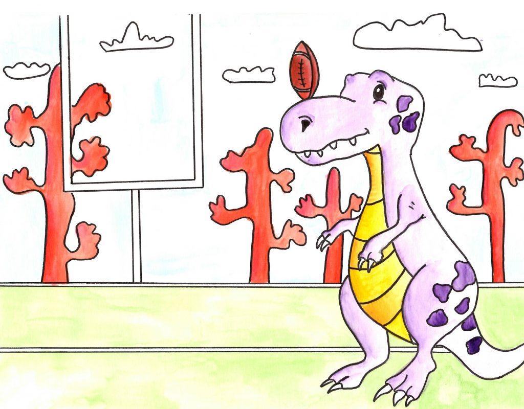 Ben le T-Rex veut jouer au rugby-Alma